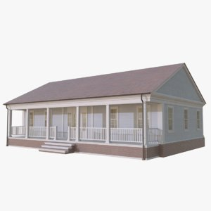 3D colonial house 6 model
