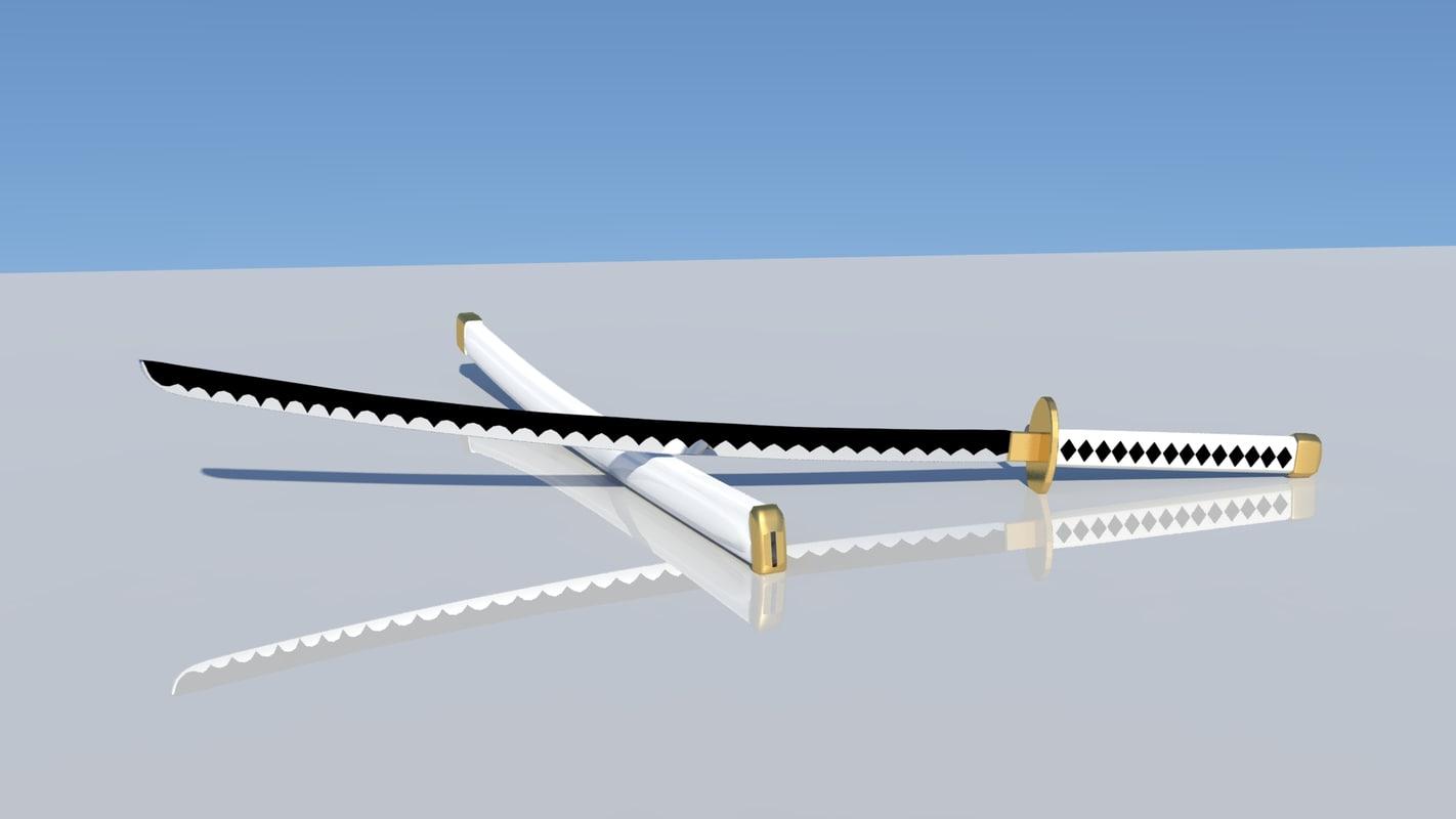 wado ichimonji sword roronoa 3D model