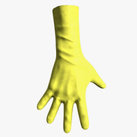 3D gloves gaming hand model