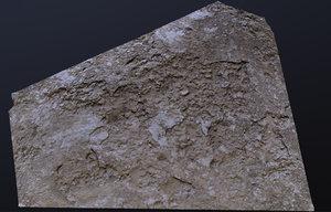 3D scanned concrete model