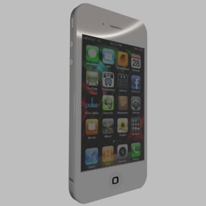 3D apple iphone 4
