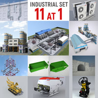 industrial electrical substation 3D model