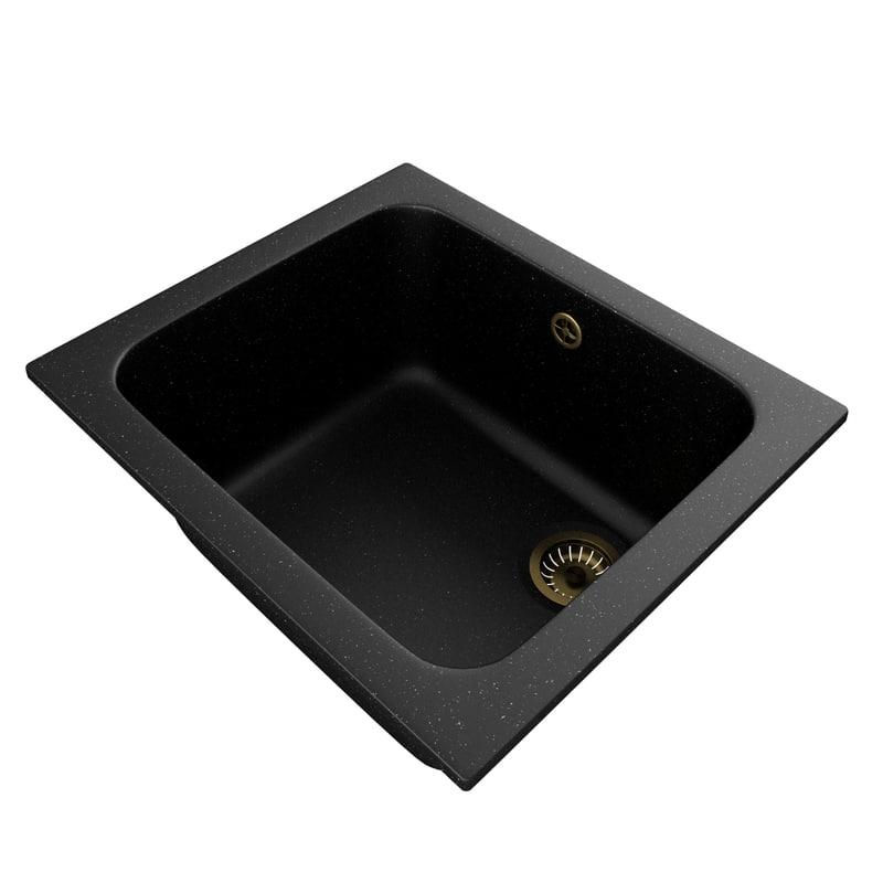 3D kitchen sink polygran