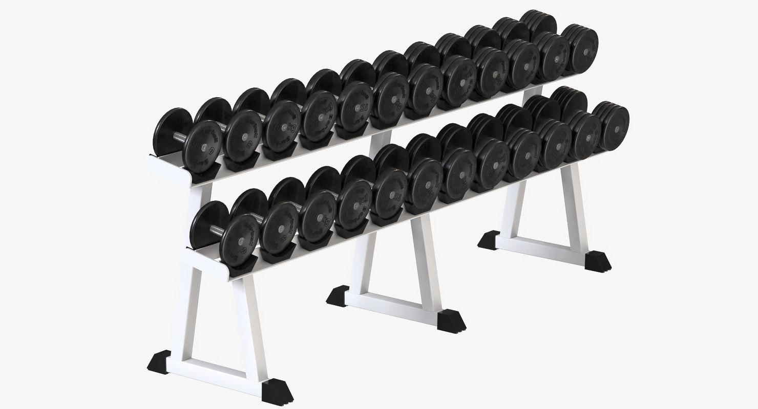 dumbbell rack 3D