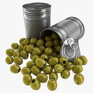 realistic canned olives model