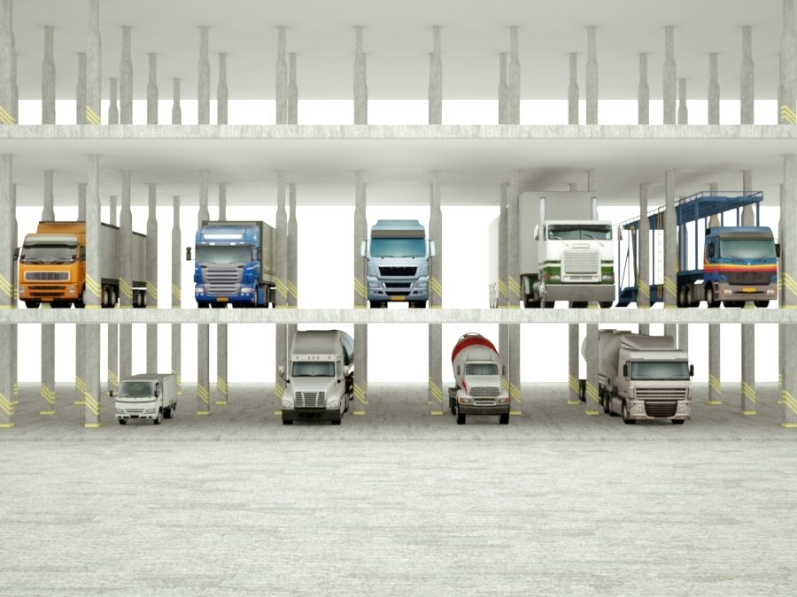 3D trucks logos model