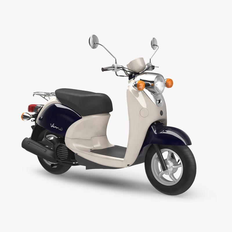 scooter motorcycle yamaha vino 3D model