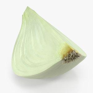 3D onion quater model