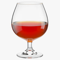 3D model glass cognac