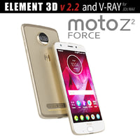 3D moto z2 force model