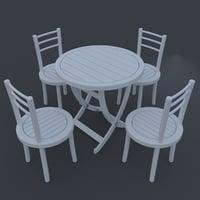3D tables gardens model