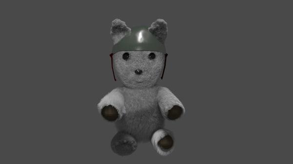 3D toy bear model