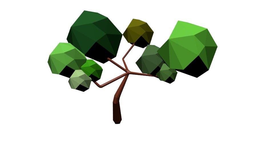 3D model simple tree