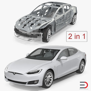 3D tesla s frame modeled