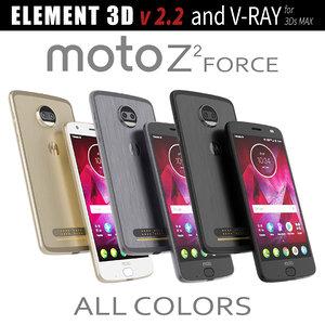 3D model moto z2 force