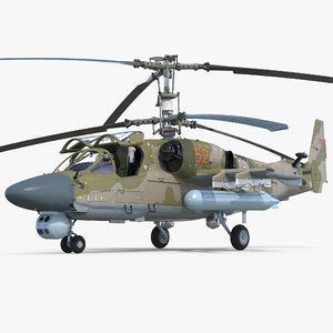 3D kamov ka52 black shark model
