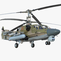 Kamov KA52 Black Shark Attack Helicopter Hokum A