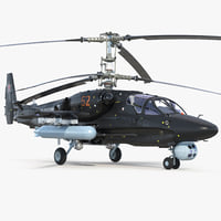 3D kamov ka52 black shark