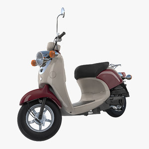 classic scooter motorcycle generic 3D model