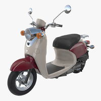 3D classic scooter motorcycle generic