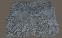 scanned concrete 3D model