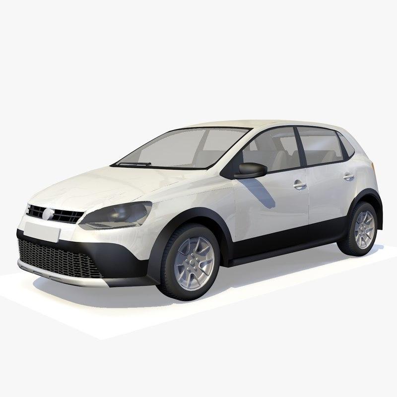 3D generic hatchback car vehicle