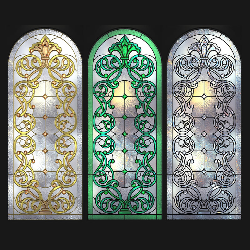 stained glass arc 3D