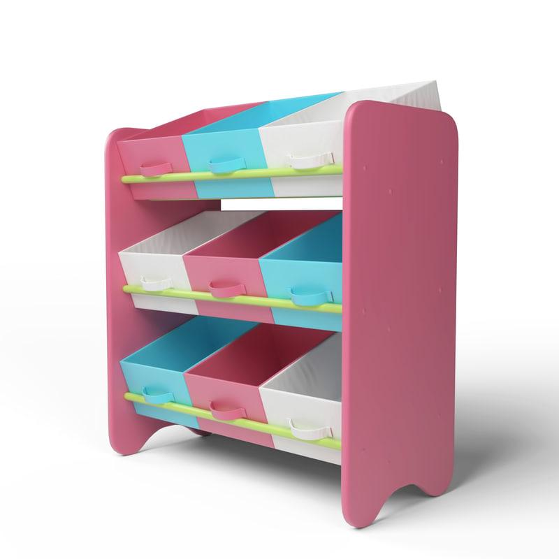 3D kid s storage box