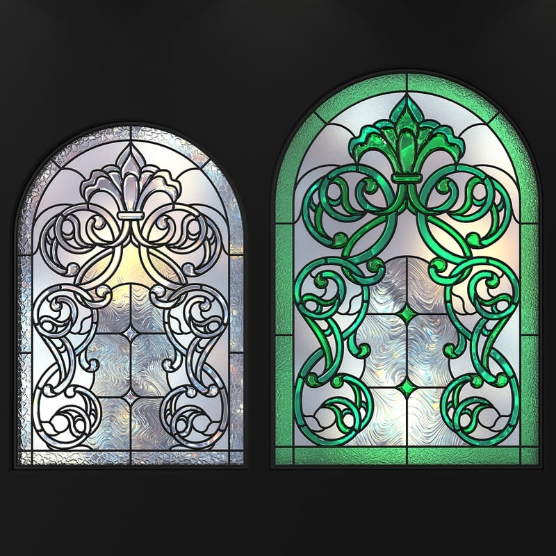 stained glass arc 3D model