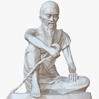 sculpture old man 1m model