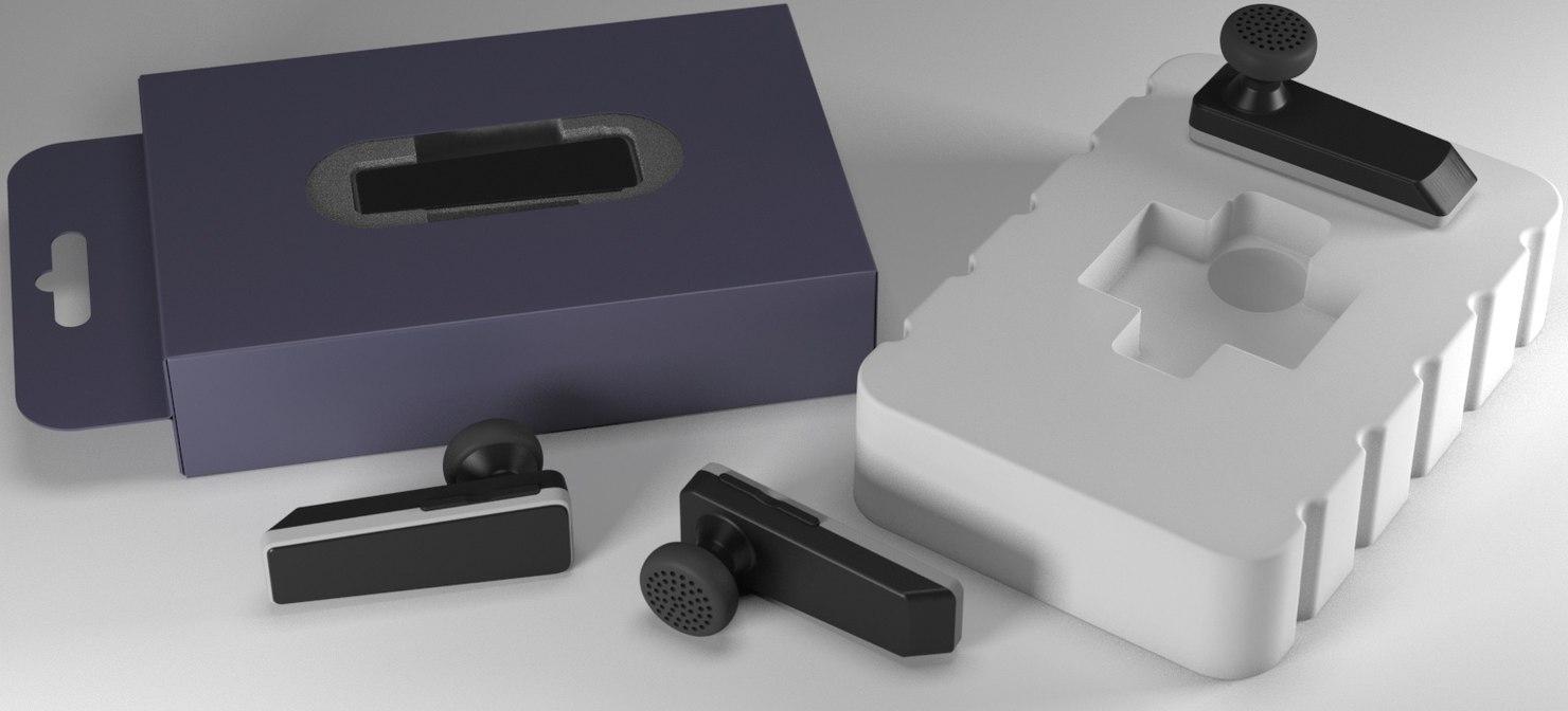 bluetooth headset wireless 2017 3D model