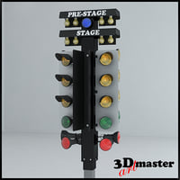 3D drag racing christmas tree model