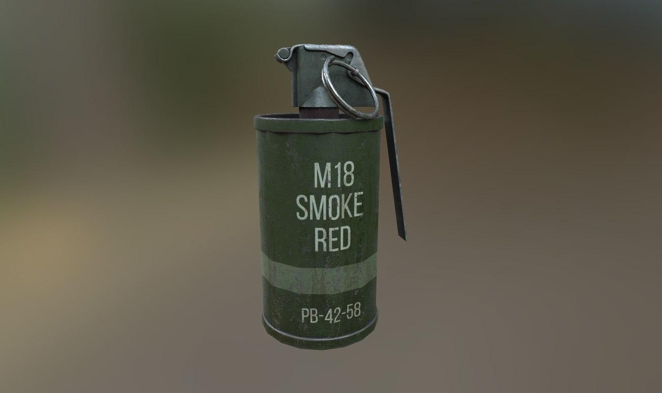 3D smoke grenade pbr