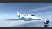 3D premier jet aircraft model