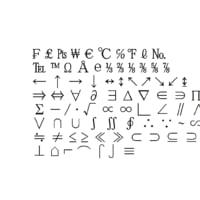symbols4 ms pmincho font 3D model