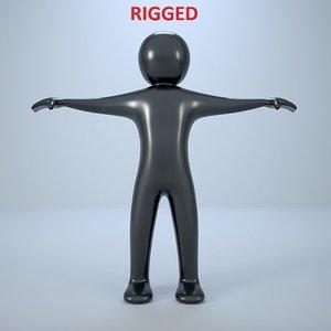 3D puppet man rigged
