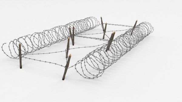 barbed wire obstacle model