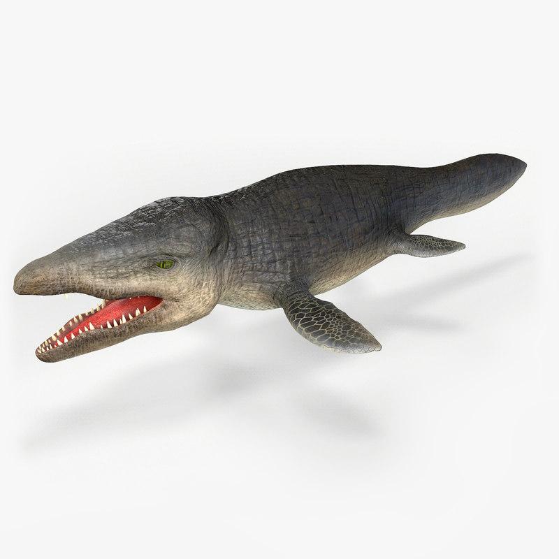 3D mosasaurus prehistorik fossil