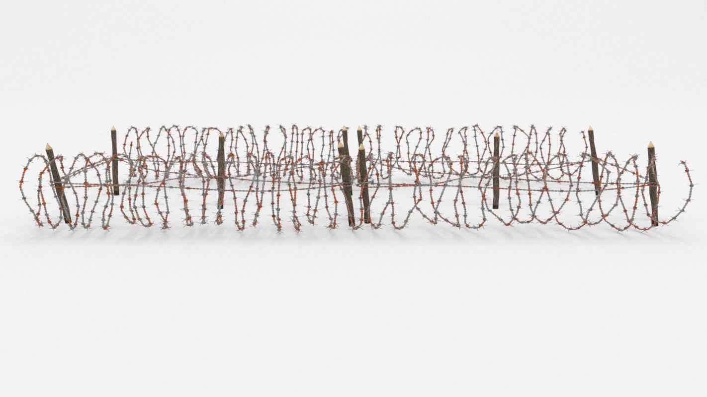 barb wire obstacle 3D model