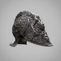 burgonet filippo negroli helmet 3D model