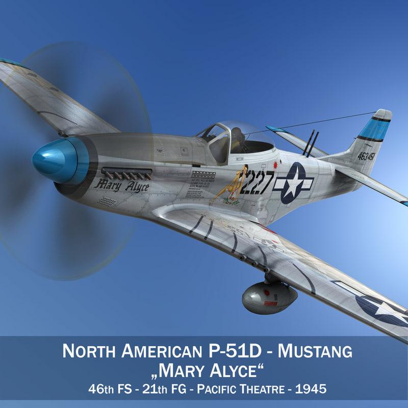 north american p-51d - 3D
