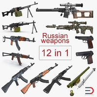 Russian Weapons 3D Models Collection