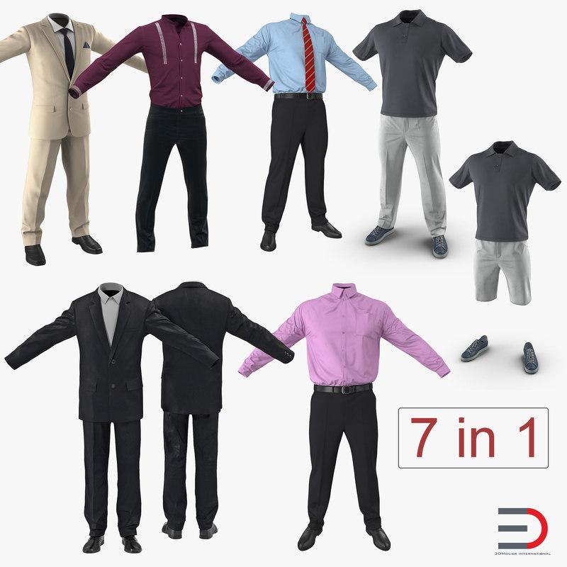 3D model men clothes