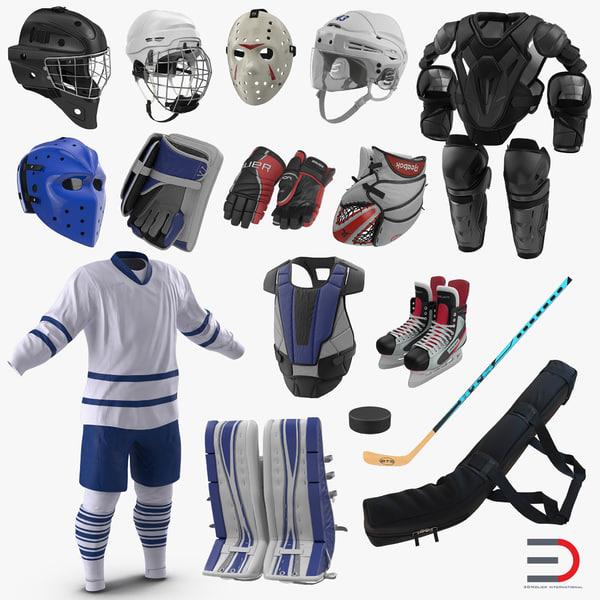 hockey equipment 4 3D model