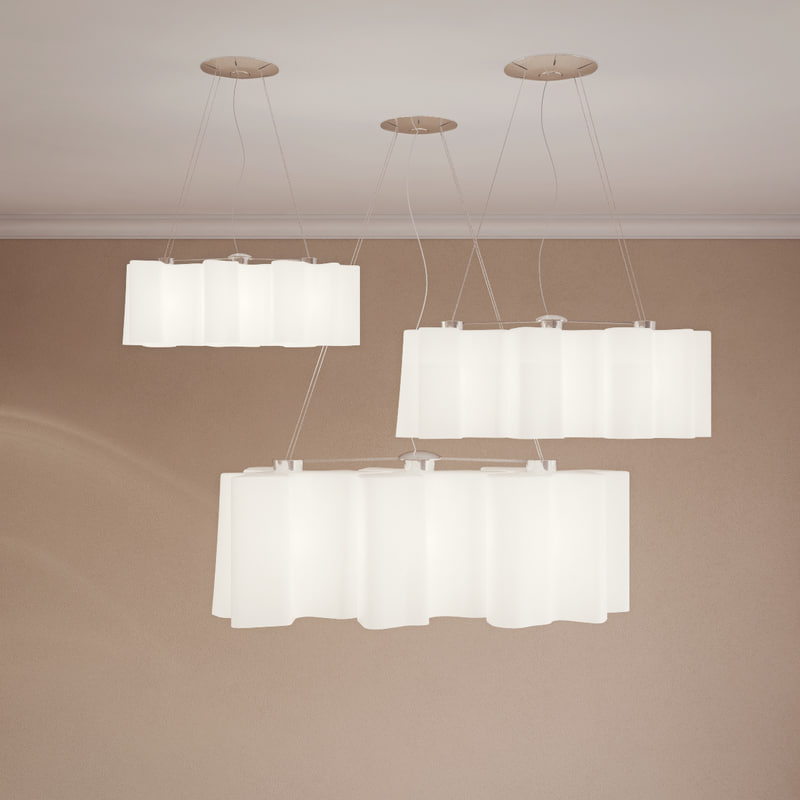 3D model ceiling lamp suspension logico