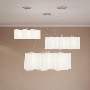 3D model ceiling lamp suspension logico