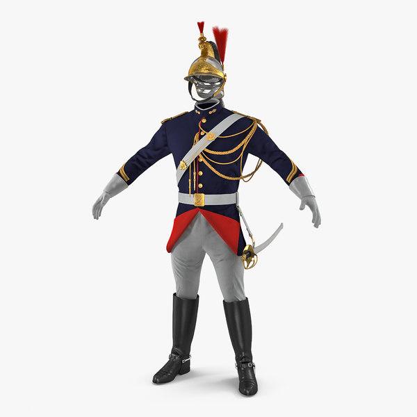 french republican guard uniform model