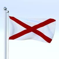 3D model flag pole