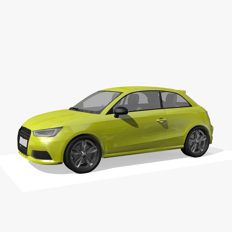 generic hatchback car 2 3D model