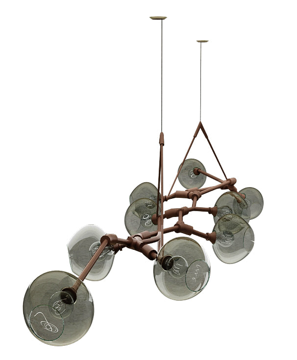 lindsey adelman chandelier 3D model